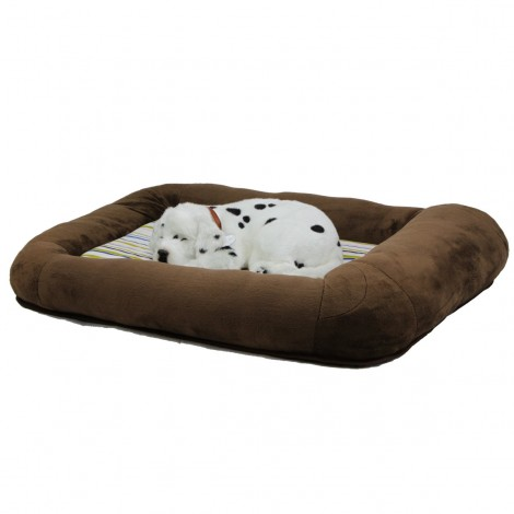 Otto Ruff + Ready Pet Bed Chocolate Brown Small With Cooling Pad - 24 in