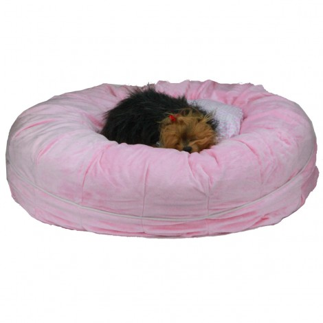 Otto Ruff + Ready Pet Bed Pink Medium With Cooling Pad - 26 in