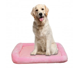 Otto Ruff + Ready Pet Bed Pink Large With Cooling Pad - 34 in