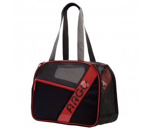 ARGO City-Pet Airline Approved Carrier Black With Red Trim Medium - 16.5 in