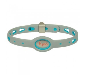 FYDO Solid Gray Water Resistant Collar Berry Blue Medium