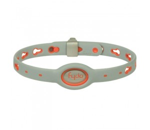 FYDO Solid Gray Water Resistant Collar Tango Orange Medium