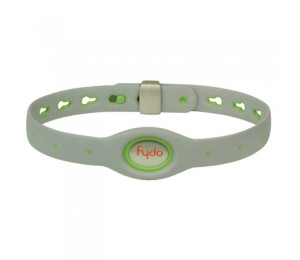 FYDO Solid Gray Water Resistant Collar Kiwi Green Large