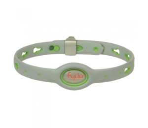 FYDO Solid Gray Water Resistant Collar Kiwi Green Medium