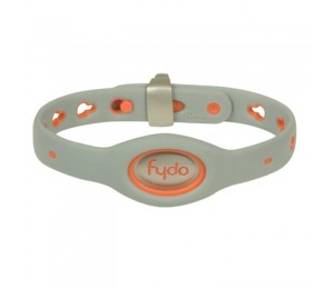 FYDO Solid Gray Water Resistant Collar Tango Orange Small