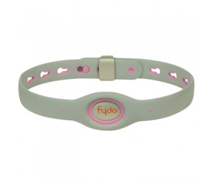 FYDO Solid Gray Water Resistant Collar Petal Pink Large