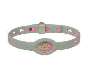 FYDO Solid Gray Water Resistant Collar Petal Pink Medium