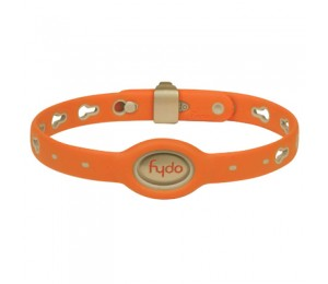 FYDO Solid Water Resistant Collar Tango Orange Medium