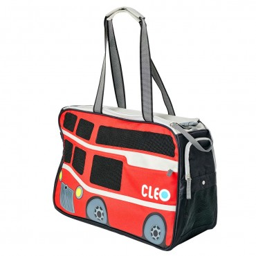 CLEO Petobus Airline Approved Carmine Red/Gray Medium - 18.25 in