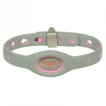 FYDO Solid Gray Water Resistant Collar Petal Pink Small