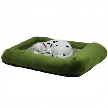 Otto Ruff + Ready Pet Bed Green Small With Cooling Pad - 24 in