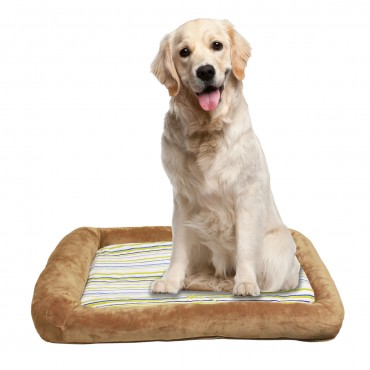 Otto Ruff + Ready Pet Bed Latte Large With Cooling Pad - 34 in