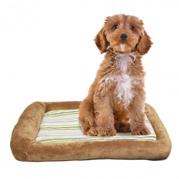 Otto Ruff + Ready Pet Bed Latte Small With Cooling Pad - 24 in