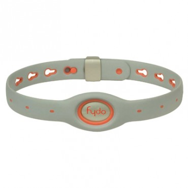 FYDO Solid Gray Water Resistant Collar Tango Orange Large