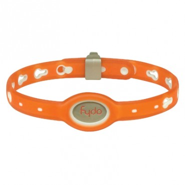 FYDO Translucent Water Resistant Collar Tango Orange Medium